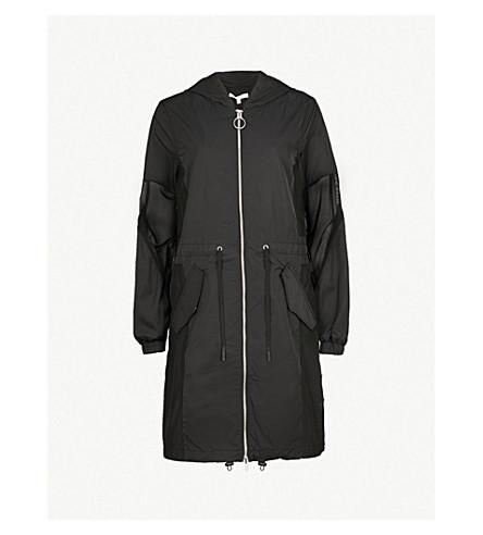 AAPE Mesh-panel hooded shell jacket (Black