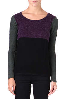 5CM I.T tricolour knitted top