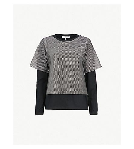 5CM Underlay netted cotton top (Black