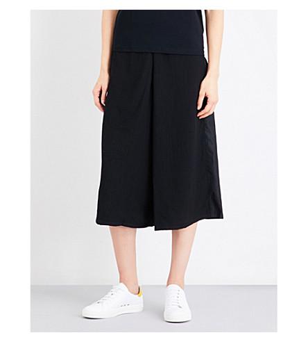5CM Wide-leg cropped satin trousers (Bkx