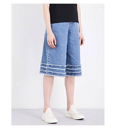 5CM Frayed-hem wide high-rise jeans (Blue
