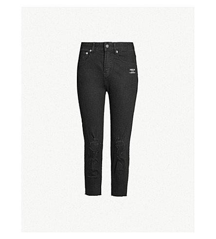 5CM Whatever-print mid-rise wide jeans (Black