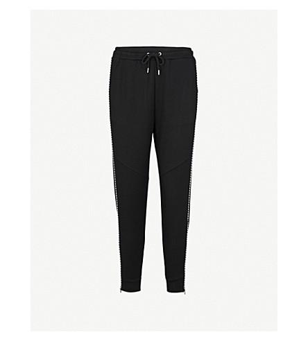 5CM Contrast-stitch mid-rise cotton-jersey jogging bottoms (Black