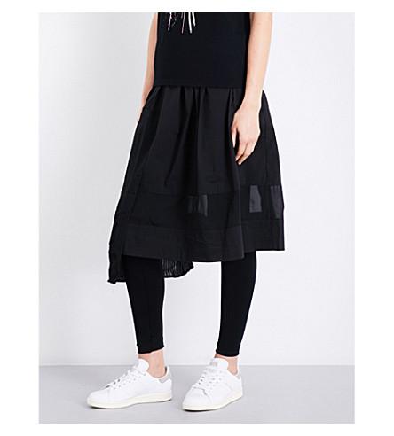 5CM Asymmetric cotton-blend skirt (Black