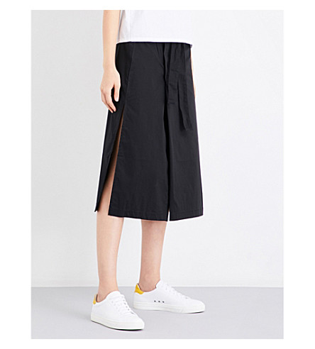 5CM Split-detail cotton-blend skirt (Bkx