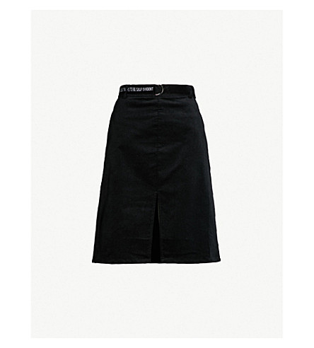5CM Belted corduroy skirt (Black