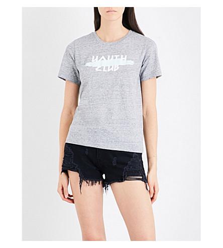 5CM Distressed mid-rise denim shorts (Bkx