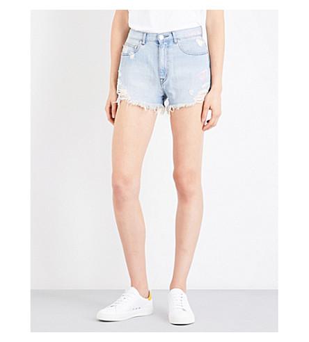 5CM Distressed mid-rise denim shorts (Bll