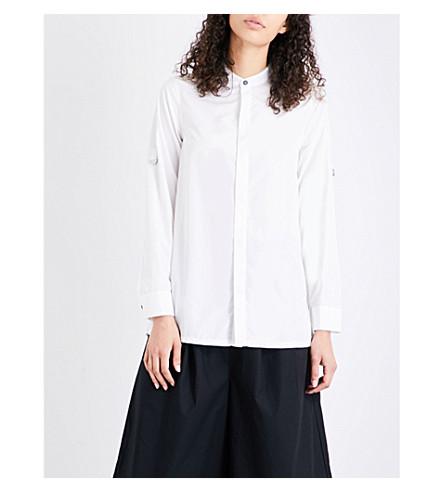 5CM Pleated shell shirt (White