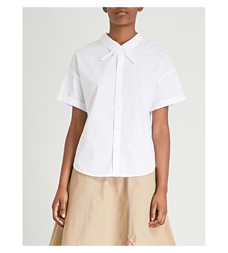 5CM双路棉府绸衬衫 (白色