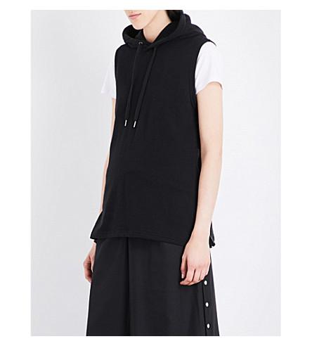 5CM Zip-detail cotton hoody (Black