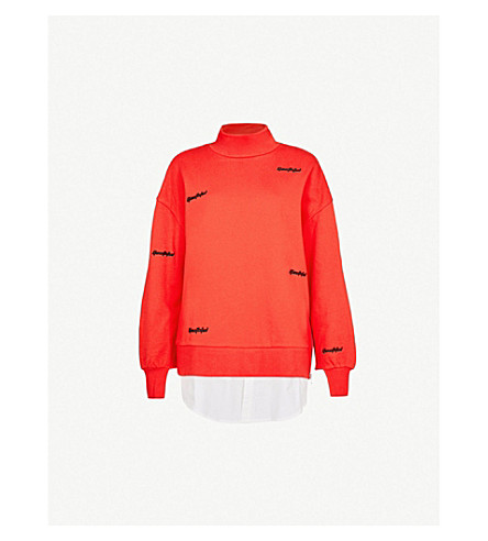 5CM Youthful cotton-jersey sweatshirt (Red