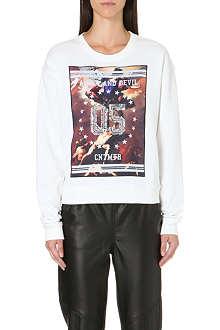 5CM Printed and embellished sweatshirt