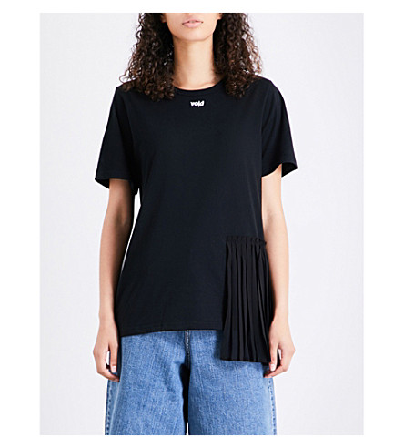 5CM Void-print cotton-jersey T-shirt (Black
