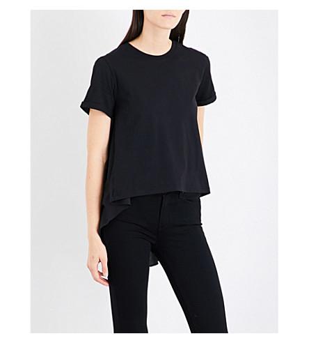 5CM Dropped-hem cotton-jersey T-shirt (Bkx