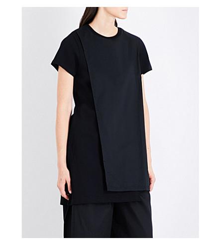 5CM Longline cotton top (Black