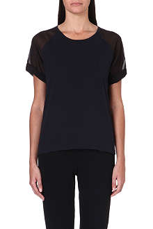 5CM I.T Sheer-sleeved t-shirt