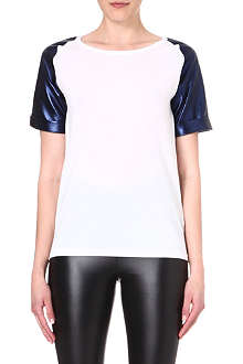 5CM I.T metallic-sleeve top