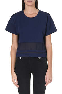 5CM I.T sheer-panelled top