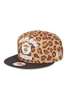 AAPE Leopard-print snapback cap