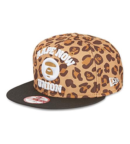 AAPE Leopard-print snapback cap (Leopard