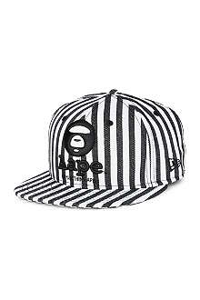 AAPE Striped New Era cap