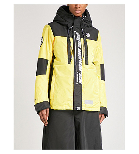 AAPE Logo-print shell down and feather-blend jacket (Yex