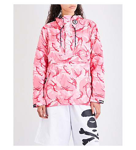 AAPE Camouflage-print shell jacket (Pink+camo