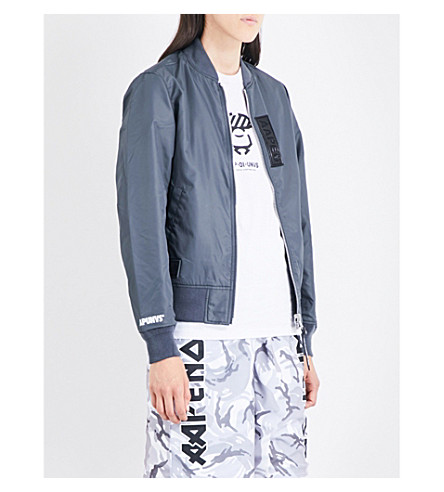 AAPE Ma1 reversible shell bomber jacket (Grey