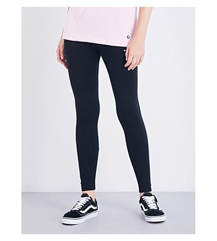 AAPE Logo-print stretch-cotton leggings (Black
