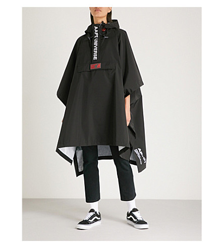 AAPE Loose-fit shell jacket (Black