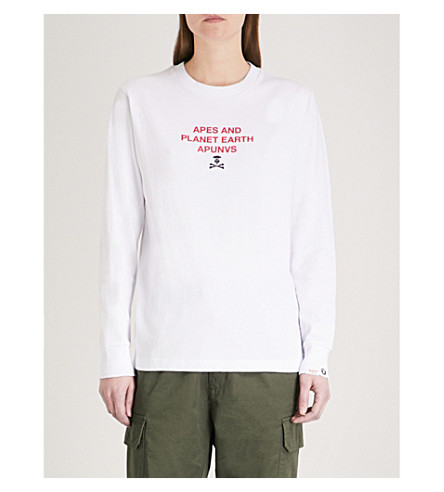 AAPE Neo Rock cotton-jersey top (White