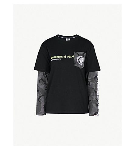 AAPE Street Dance cotton-jersey top (Bkx