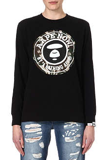 AAPE Moon Face logo sweatshirt
