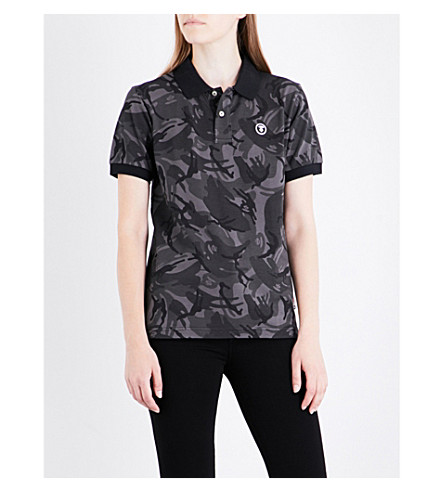 AAPE Camo-patterned cotton-piqué polo shirt (Bkz