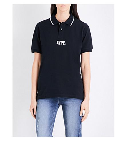 AAPE Contrasting collar cotton-piqué polo shirt (Bkx