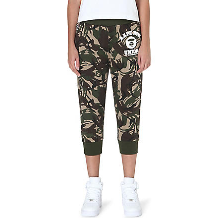AAPE Camouflage cotton-blend jogging bottoms (Camoflauge