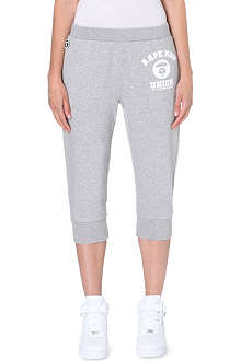 AAPE I.T Branded cotton-blend jogging bottoms