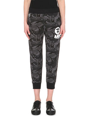 AAPE Camouflage stretch-cotton joggings bottoms