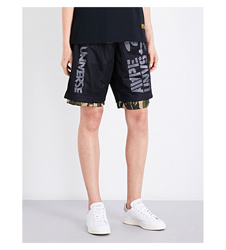 AAPE Reversible camouflage-print sports-mesh shorts (Grz