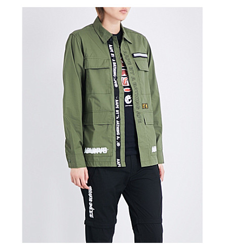 AAPE Cotton-poplin shirt jacket (Khx