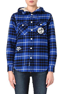 AAPE I.T hooded checked shirt