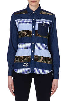 AAPE I.T patchwork denim shirt