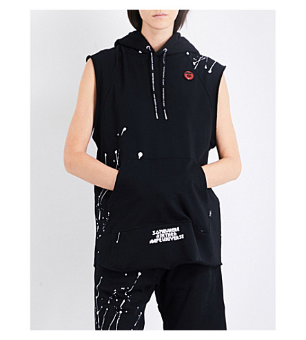 AAPE Neo Rock sleeveless jersey hoody (Bkx