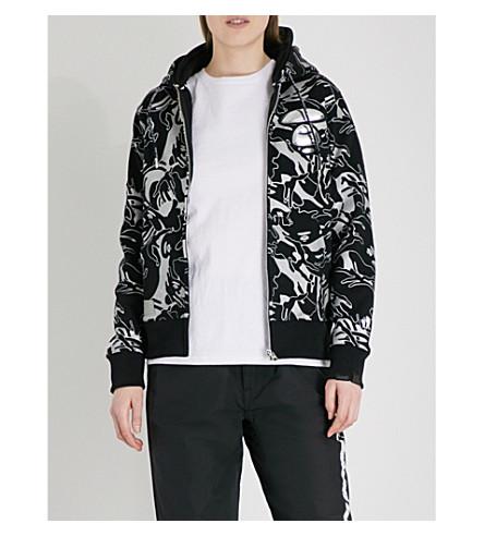 AAPE Camo-print cotton-blend hoody (Black+grey
