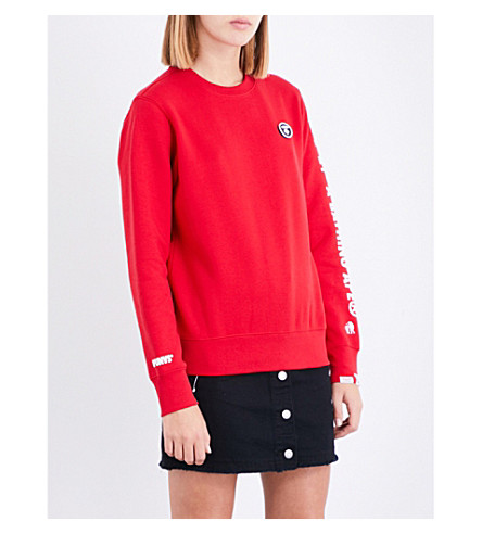 AAPE Logo-print cotton-blend sweatshirt (Rdx