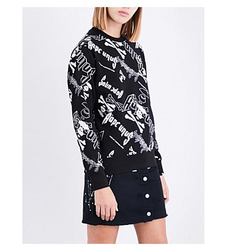 AAPE Logo-print cotton-blend sweatshirt (Bkx