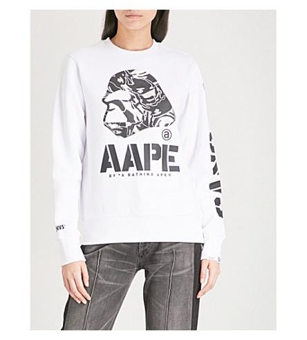 AAPE Foiled logo-print jersey sweatshirt (Whx