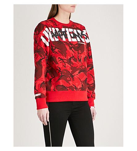 AAPE Logo-print cotton-blend sweatshirt (Red