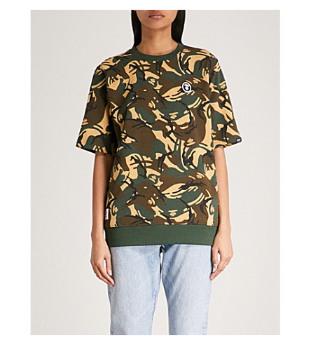 AAPE Camouflage-print cotton-jersey T-shirt (Green